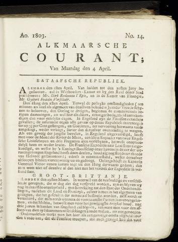 Alkmaarsche Courant 1803-04-04