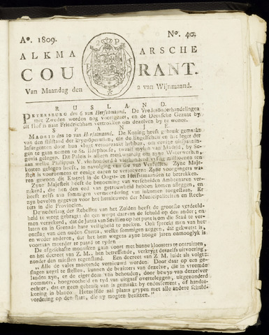 Alkmaarsche Courant 1809-10-02
