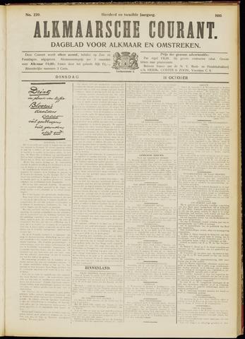 Alkmaarsche Courant 1910-10-11