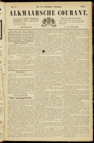 Alkmaarsche Courant 1884-01-04