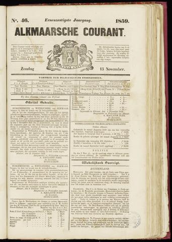 Alkmaarsche Courant 1859-11-13