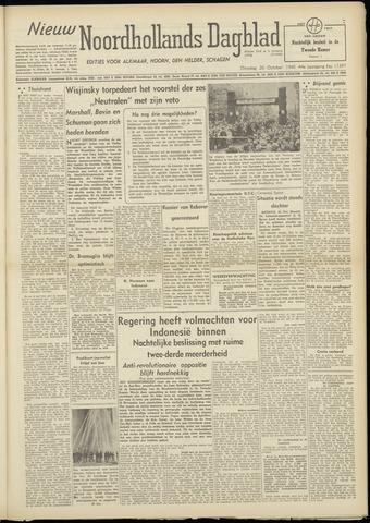 Nieuw Noordhollandsch Dagblad : voor Alkmaar en omgeving 1948-10-26