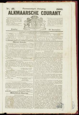 Alkmaarsche Courant 1860-11-18