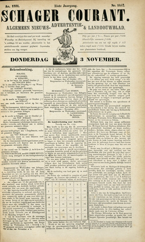 Schager Courant 1881-11-03