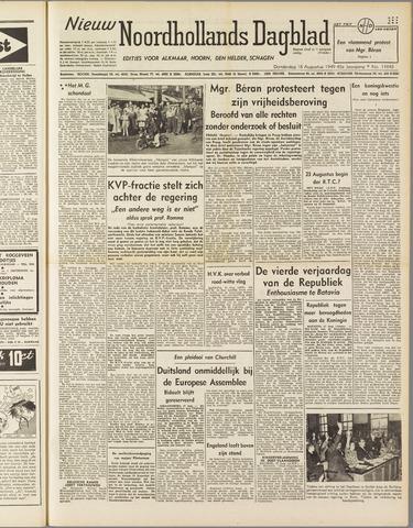 Nieuw Noordhollandsch Dagblad : voor Alkmaar en omgeving 1949-08-18