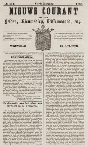 Nieuwe Courant van Den Helder 1864-10-19