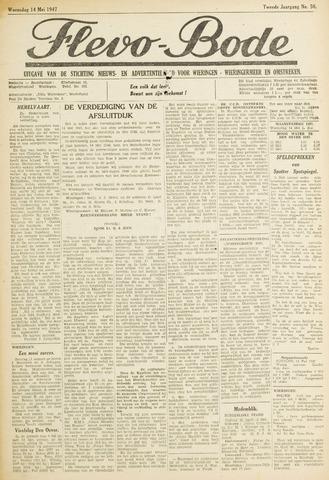 Flevo-bode: nieuwsblad voor Wieringen-Wieringermeer 1947-05-14