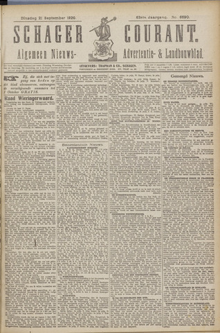 Schager Courant 1920-09-21
