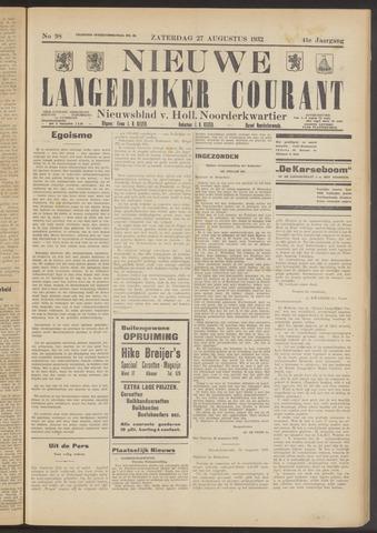 Nieuwe Langedijker Courant 1932-08-27