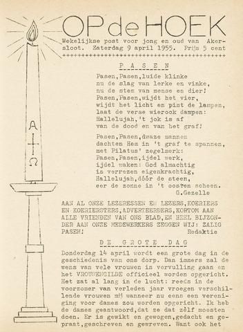 Op De Hoek, weekblad voor Akersloot 1955-04-09