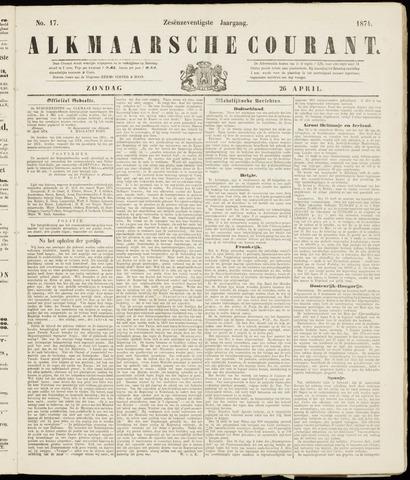Alkmaarsche Courant 1874-04-26