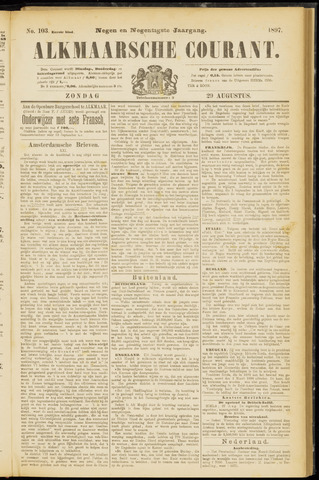 Alkmaarsche Courant 1897-08-29