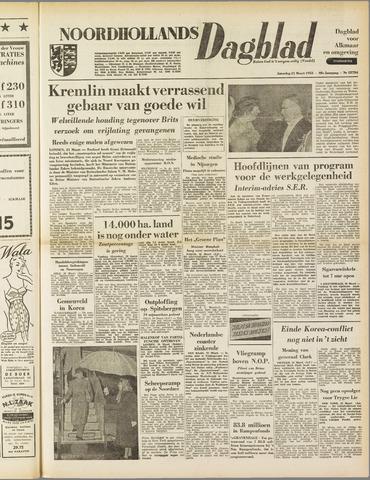Noordhollands Dagblad : dagblad voor Alkmaar en omgeving 1953-03-21