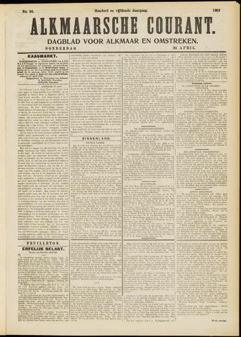 Alkmaarsche Courant 1913-04-24