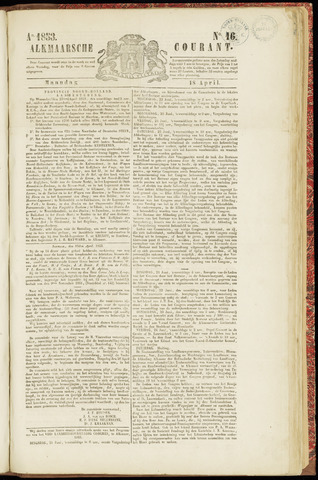 Alkmaarsche Courant 1853-04-18