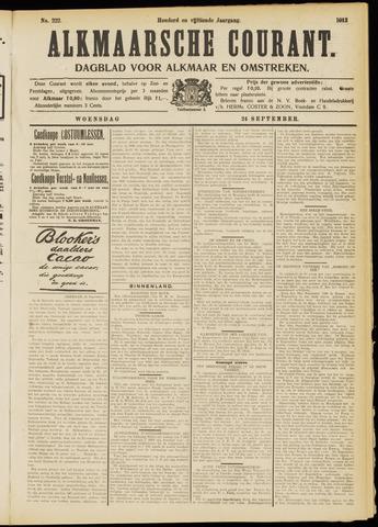 Alkmaarsche Courant 1913-09-24
