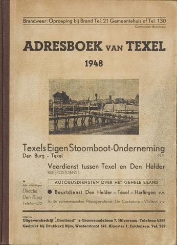 Adresboek van Texel 1948-01-01