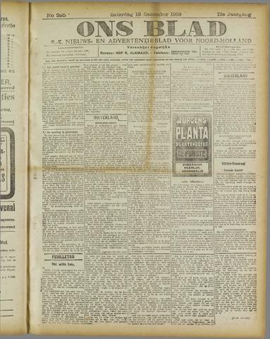 Ons Blad : katholiek nieuwsblad voor N-H 1919-12-13