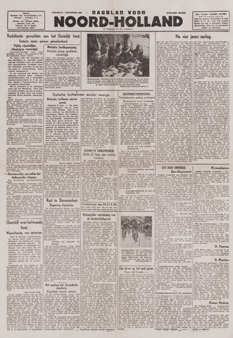Dagblad Noord-Holland, Schager editie 1943-09-01