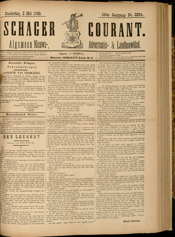 Schager Courant 1889-05-02