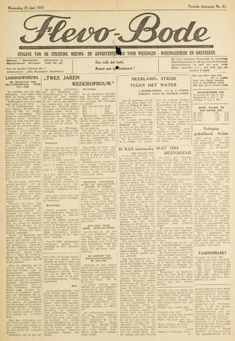Flevo-bode: nieuwsblad voor Wieringen-Wieringermeer 1947-06-25