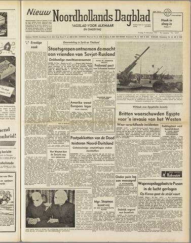 Nieuw Noordhollandsch Dagblad : voor Alkmaar en omgeving 1951-11-30