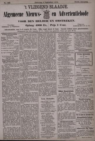 Vliegend blaadje : nieuws- en advertentiebode voor Den Helder 1875-09-04