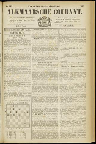 Alkmaarsche Courant 1892-11-20