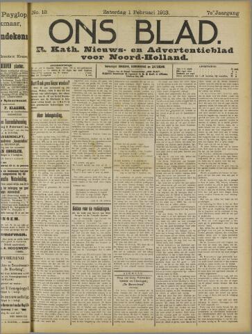 Ons Blad : katholiek nieuwsblad voor N-H 1913-02-01