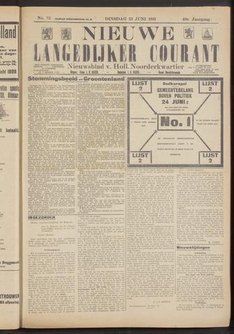 Nieuwe Langedijker Courant 1931-06-23