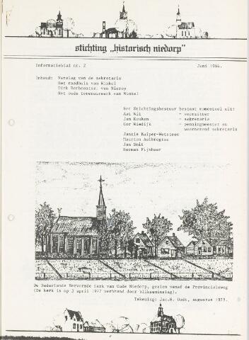 Informatieblad stichting Historisch Niedorp 1984