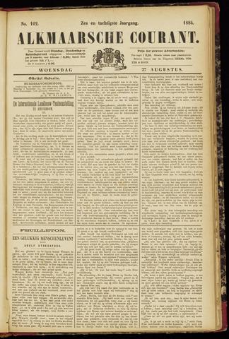Alkmaarsche Courant 1884-08-27