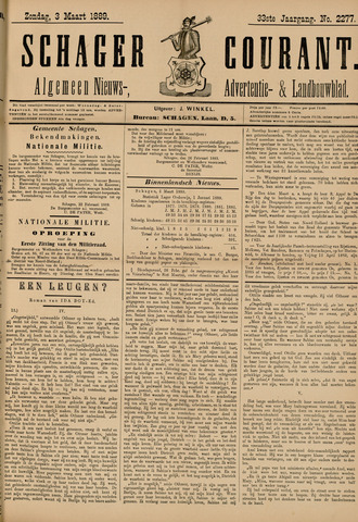 Schager Courant 1889-03-03