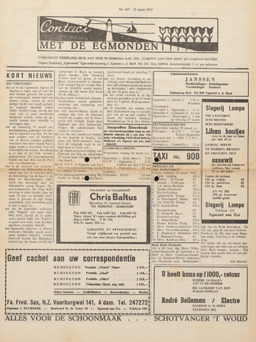 Contact met de Egmonden 1965-03-25