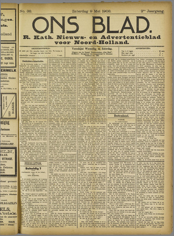 Ons Blad : katholiek nieuwsblad voor N-H 1908-05-09