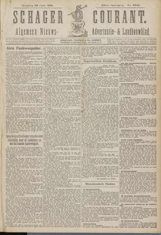 Schager Courant 1920-06-29
