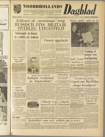 Noordhollands Dagblad : dagblad voor Alkmaar en omgeving 1961-11-27