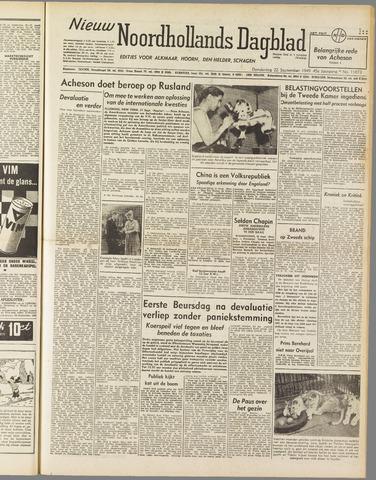 Nieuw Noordhollandsch Dagblad : voor Alkmaar en omgeving 1949-09-22
