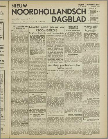 Nieuw Noordhollandsch Dagblad : voor Alkmaar en omgeving 1945-11-16