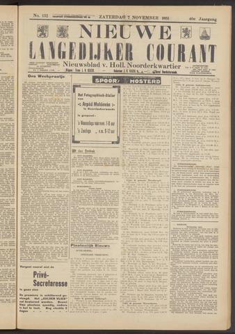 Nieuwe Langedijker Courant 1931-11-07