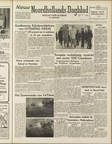 Nieuw Noordhollandsch Dagblad : voor Alkmaar en omgeving 1951-11-22