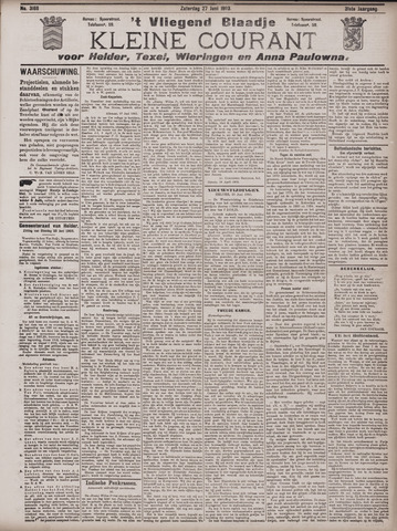 Vliegend blaadje : nieuws- en advertentiebode voor Den Helder 1903-06-27
