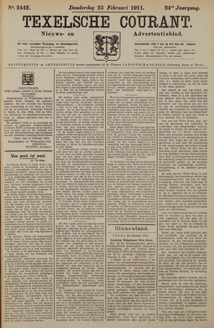 Texelsche Courant 1911-02-23