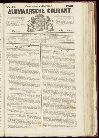 Alkmaarsche Courant 1859-12-04