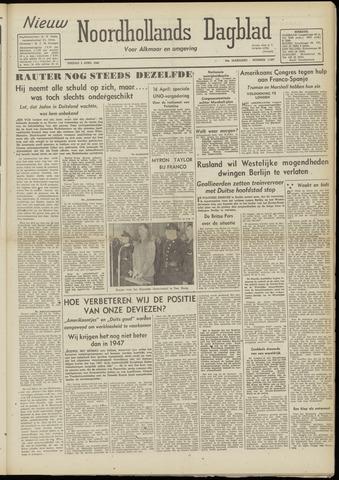 Nieuw Noordhollandsch Dagblad : voor Alkmaar en omgeving 1948-04-02