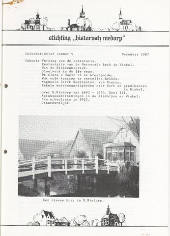 Informatieblad stichting Historisch Niedorp 1987-12-01