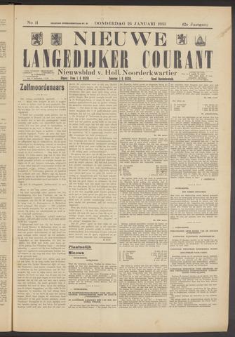 Nieuwe Langedijker Courant 1933-01-26