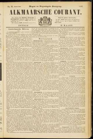 Alkmaarsche Courant 1897-03-21