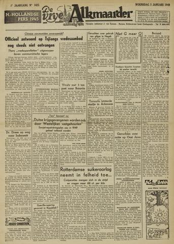 De Vrije Alkmaarder 1949-01-05