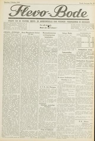Flevo-bode: nieuwsblad voor Wieringen-Wieringermeer 1949-10-01